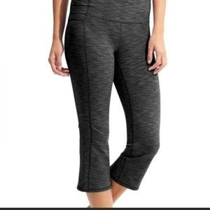 Athleta Ananda Split Hem Capri Yoga Workout Pants